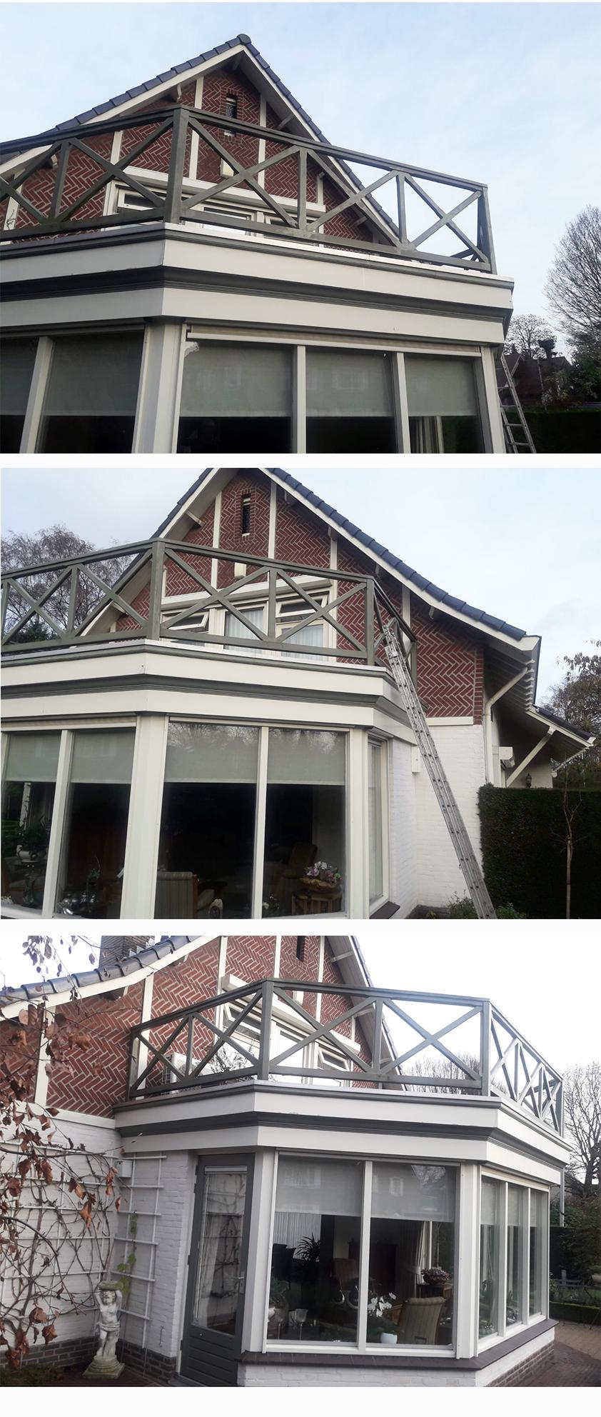 Collage hekwerk balkon site